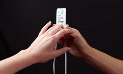 measuring patient's finger to determine correct Masimo Pronto sensor size